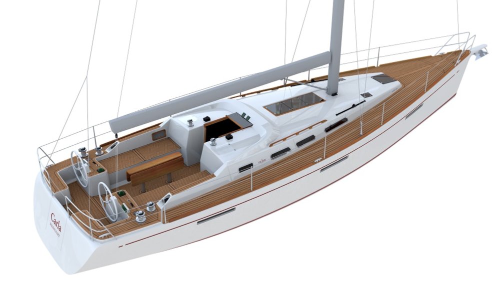 Faurby 460E. Coming soon. Illustration by: Faurby Yacht