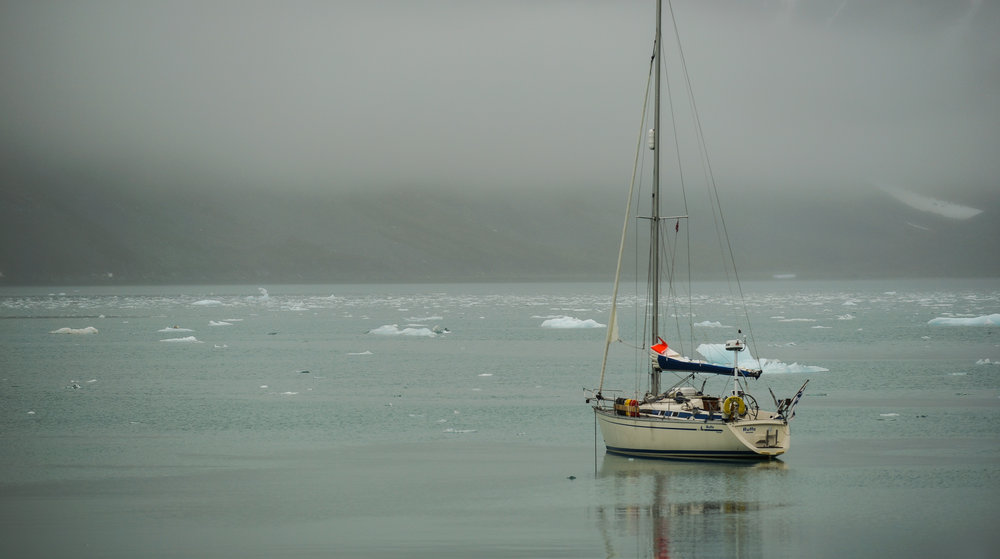 S/Y Ruffe at anchor in Svalbard- Photo by: Kari Nurmi