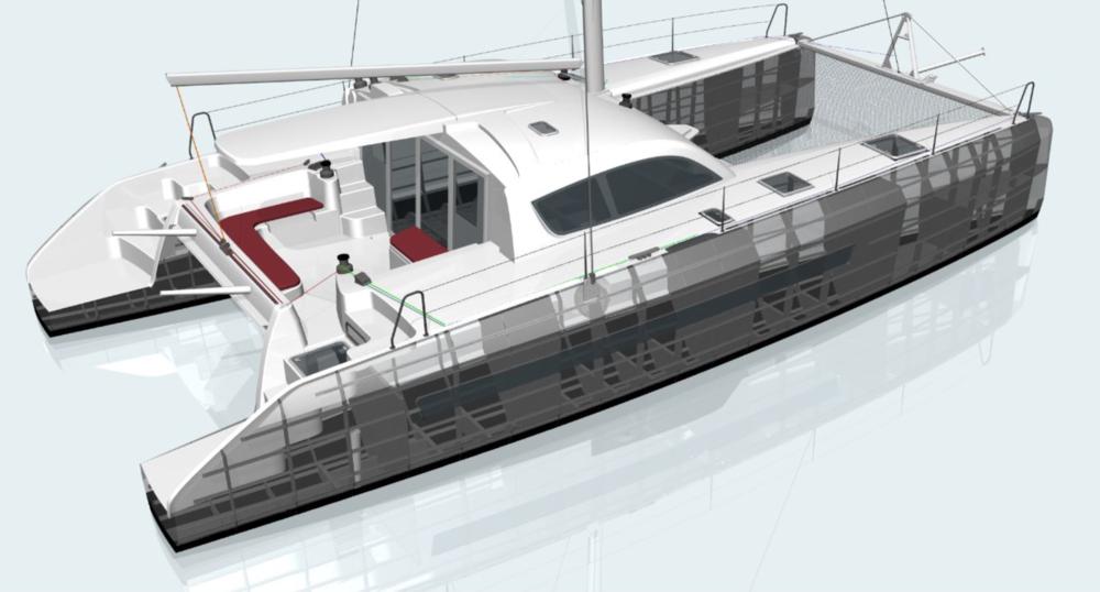 The Allures 47.9 Catamaran. Illustration by: Allures
