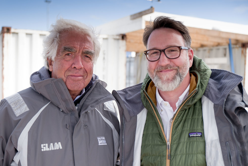Germán Frers and Daniel Novello from Scandinavian Mariner Magazine