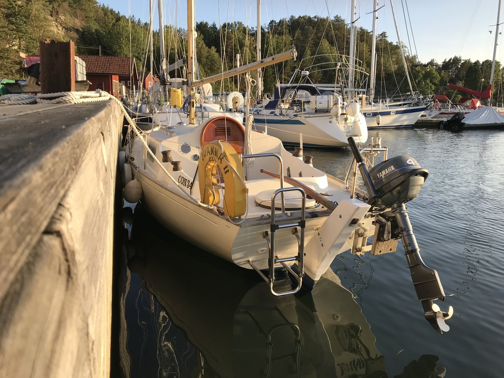 The Contessa 26 just launched and rigged at Adams Boat Care in Henån, Sweden. Photo by: Daniel Novello