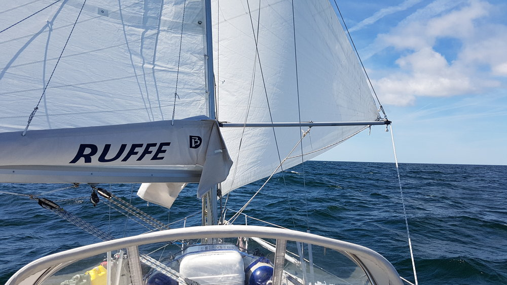 "Downwind sailing in the Baltic Sea. Photo by: Kari ""Ruffe"" Nurmi"