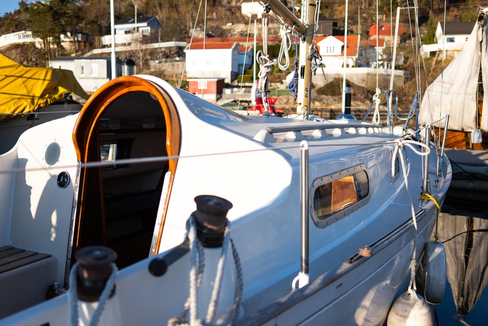 50 year old gelcoat shining better than much newer boats in the Marina. Photo: Daniel Novello