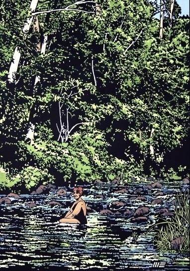 Maureen in the Albert River
