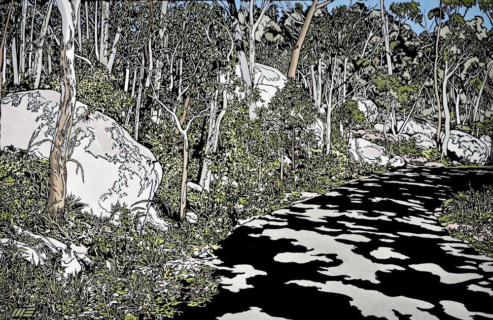 Road through the granite Belt 1