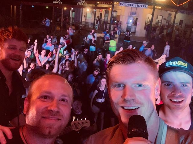 Thanks to everyone who came out to the #BeehiveHotelDoesNYE last night & brought in 2019 with us!  We'll have some big announcements coming for you soon, all about 2019 😏 *Excuse our creeper faces 🤦🏼‍♂️😂* #IABMusic #CountryRock #Beehive #NYE
