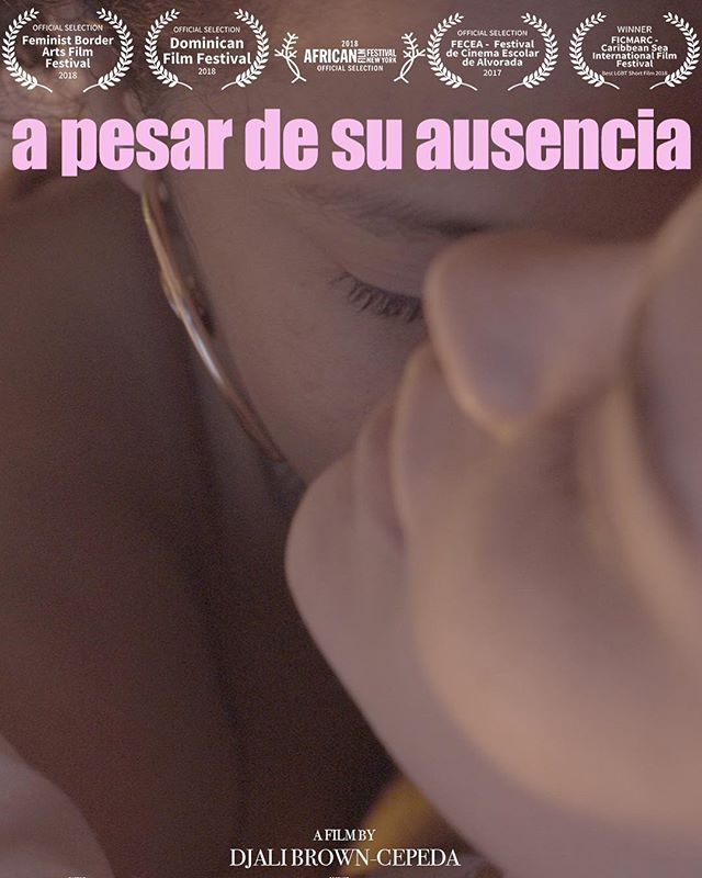 """Hello New York! 🇺🇸 Tonight come out to @djalibc's premiere of her debut film, a short called """"A pesar de su ausencia"""" (@apesar.mov). The film, directed and written by Djali, is screening tonight at 8:30pm at Film Society of Lincoln Center (@filmlinc) as part of the 25th Annual New York African Film Festival (@africanfilmfest). It's part of their New York Shorts Program. $12 for students with an ID, seniors, and disabled persons; $15 general admission. Moviepass is accepted too! 💯"""