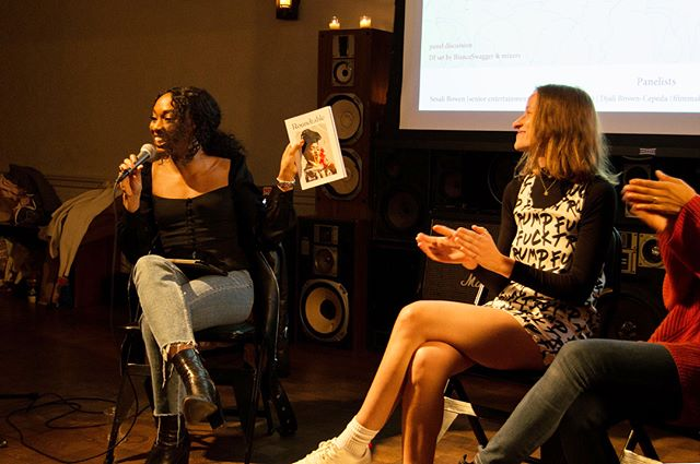 """Pics from our New York panel discussion are now on our blog! Once again, a huge thank you to our panelists @badfatblackgirl, @djalibc & @babesinbathers for sharing a little insight with us on """"Disrupting the Narrative"""", and to @acehotelnewyork for hosting us in their beautiful space ✨ go to the link in our bio to see more pics and read about the event 🦋❤️ pics by @momotakahashi"""