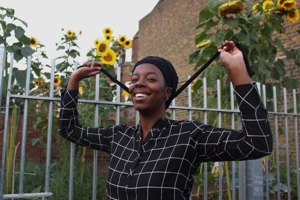 """Akua, postgraduate student      TIGHTS    """"When we were kids, me and my sister used to put tights on our head, pretend we had long hair, and play grown- ups. Now, I wear tights to protect my hair, which definitely came from my mum. She used to pay for us to get our hair steamed at the hairdressers. If we didn't wear tights to bed and messed up our hair, she would get sooo mad. I would always do it, except later when I started staying at my friend's houses when I was a teenager – I was a bit too embarrassed."""""""