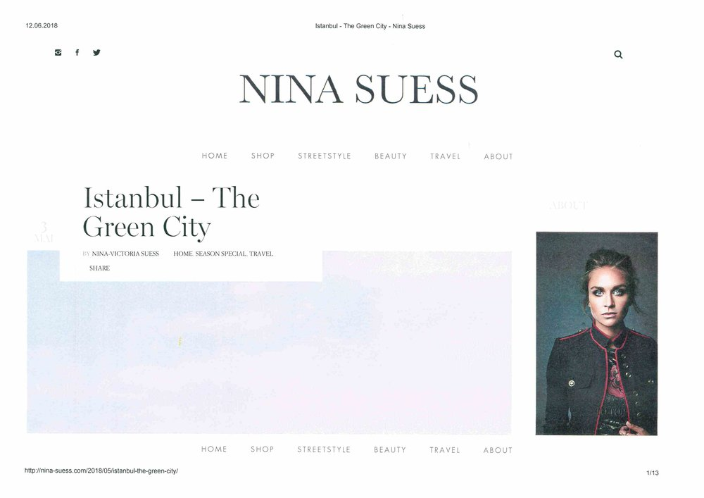 Nina Sues - Istanbul The Green City - May 2018
