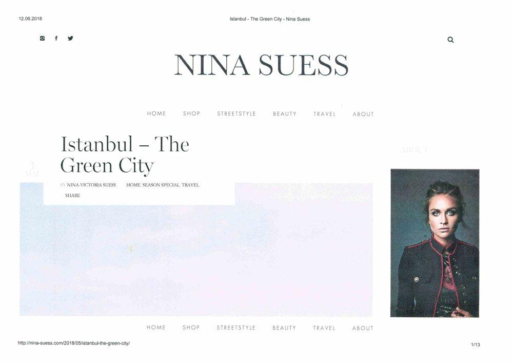Nina Sues - Istanbul The Green City - May 2018