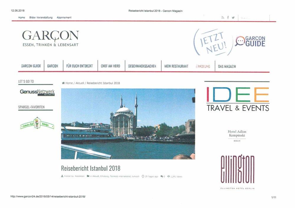 Garcon24.de - Reisebericht İstanbul - May 2018