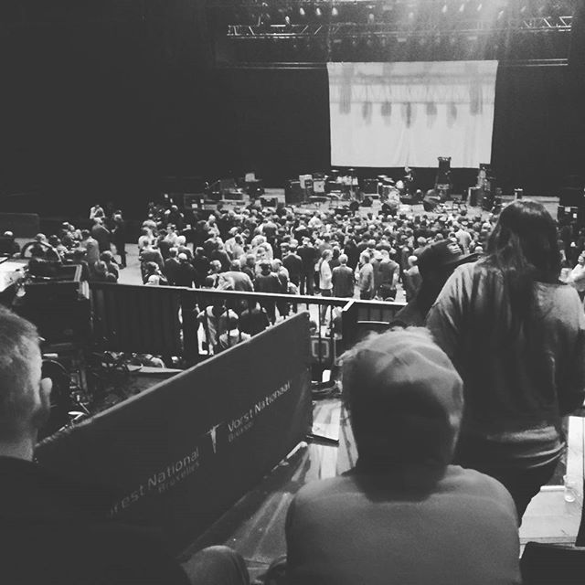 Waiting for Godspeed You! Black Emperor #onstage #concert #livemusic #postrock #postrockband #massive #huge #godspeedyoublackemperor #gybe #brussels #forestnational