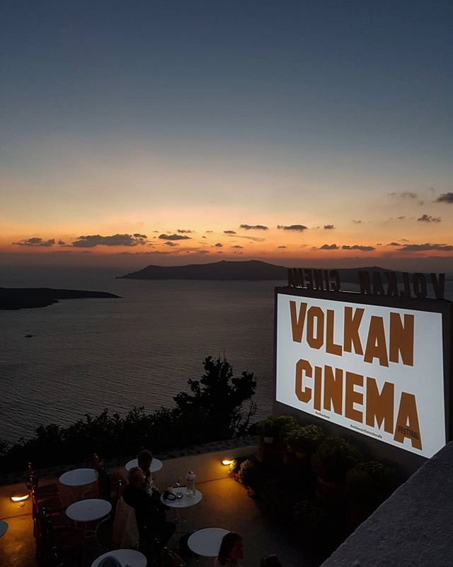 #mixedusespace #outdoor #cinema #craft #brewery #cafe #balcony #santorini #sunset #volcano #volkan #beer #cinema