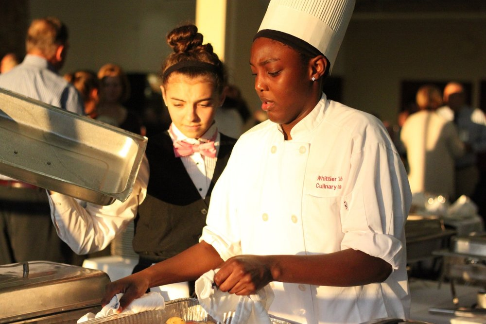 Culinary Students prepare and serve dinner at NEASC Welcome Dinner