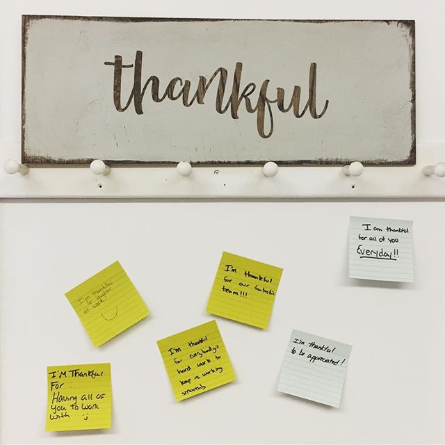 It's gratitude month here at @cascobaydental. What are you thankful for?  #thankful #brunswickdowntown #humblehonestcare