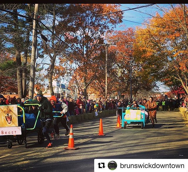 We're looking forward to the Slumber Bed Races on Saturday! #repost #brunswickme #humblehonestcare