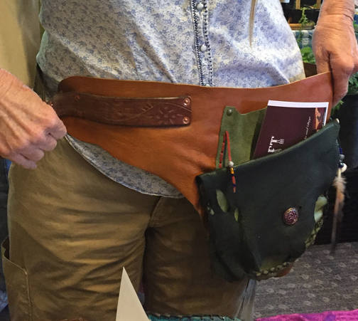 Green and Tan Festival Belt - Sold -