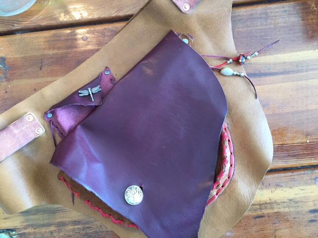 Mahogany and Tan Festival Belt -$125 -