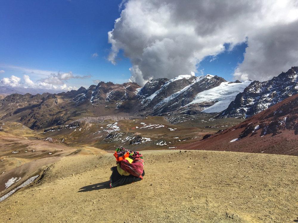 Top of rainbow Peru