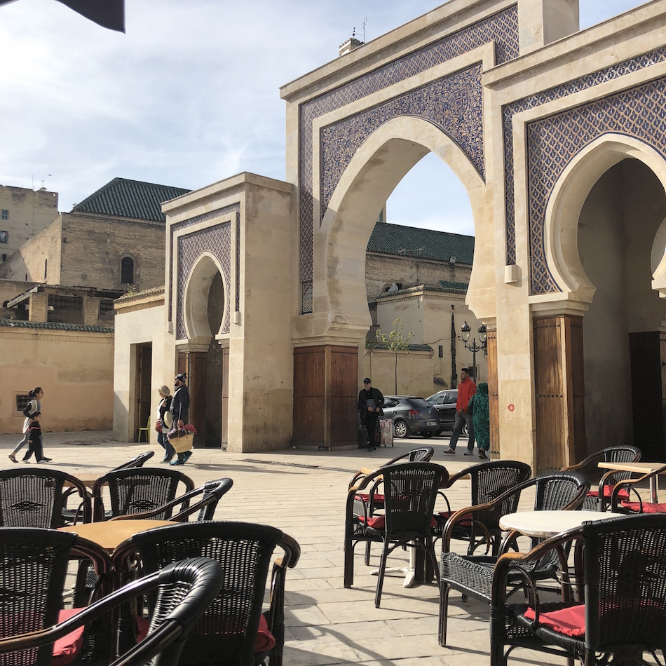 blue gate in fez morocco