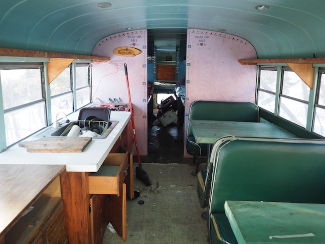 The abandoned the bus with the rest of the property.