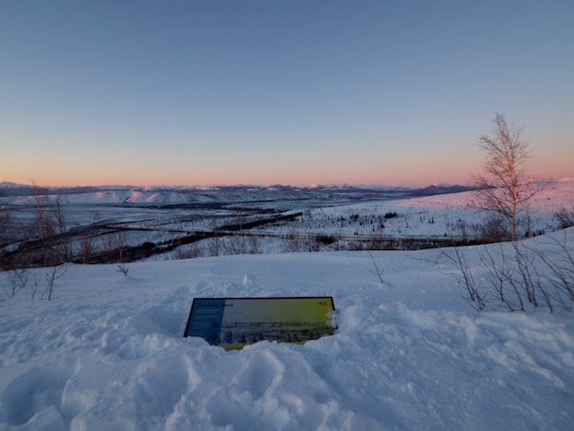 Sunset over the Dalton Mountains north of the Arctic Circle.