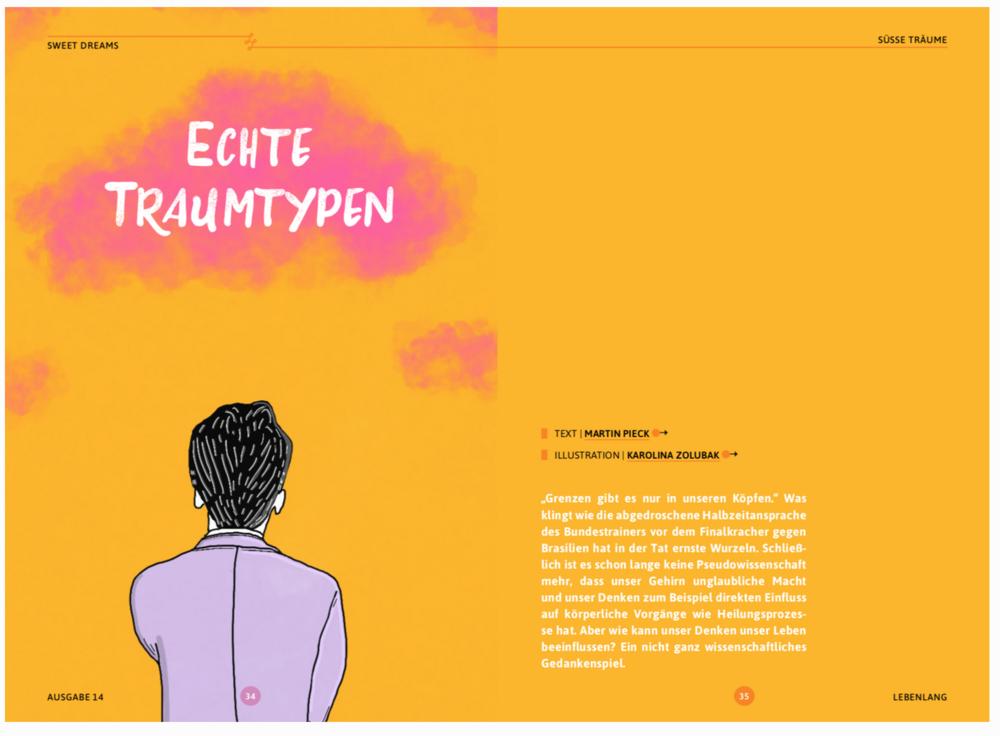 Editorial illustration for  Lebenlang Magazin