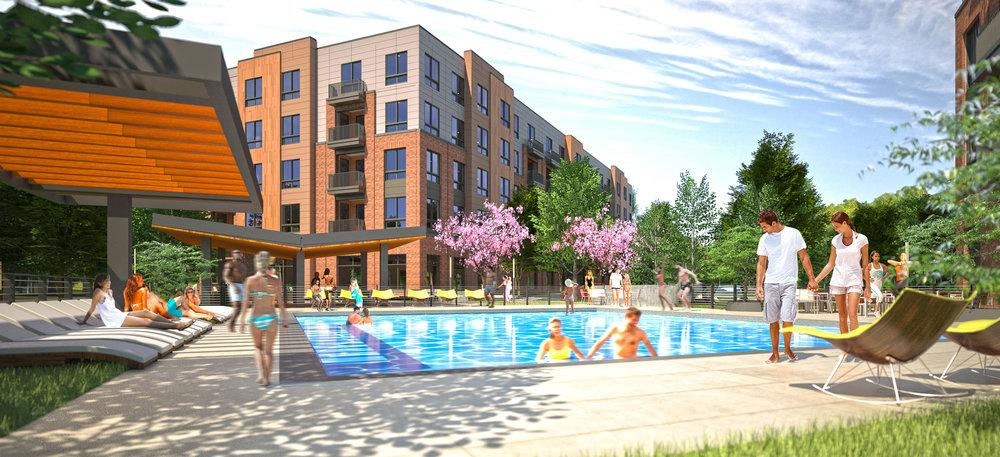 Resort-Style Pool & Courtyard