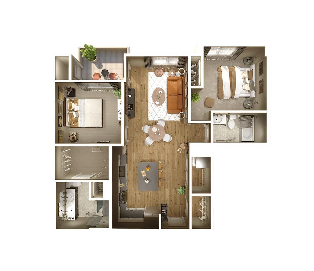 "<h1>LENOX</h1><div style=""height:1px;font-size:1px;""></div><p>2 Bedroom | 2 Bath  |  1,068 sq. ft.</p>"