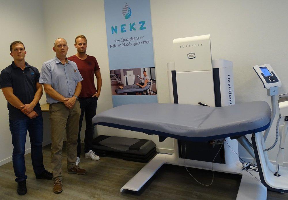 Het NEKZ team! - Uw gespecialiseerde manueel therapeuten Andre Wapenaar, Fons van Schaik en Dimitri Koch staan in onze vestiging in Roosendaal voor u klaar. Zij hebben de vaardigheden en ervaring om u zo goed mogelijk te behandelen.Andre Wapenaar:
