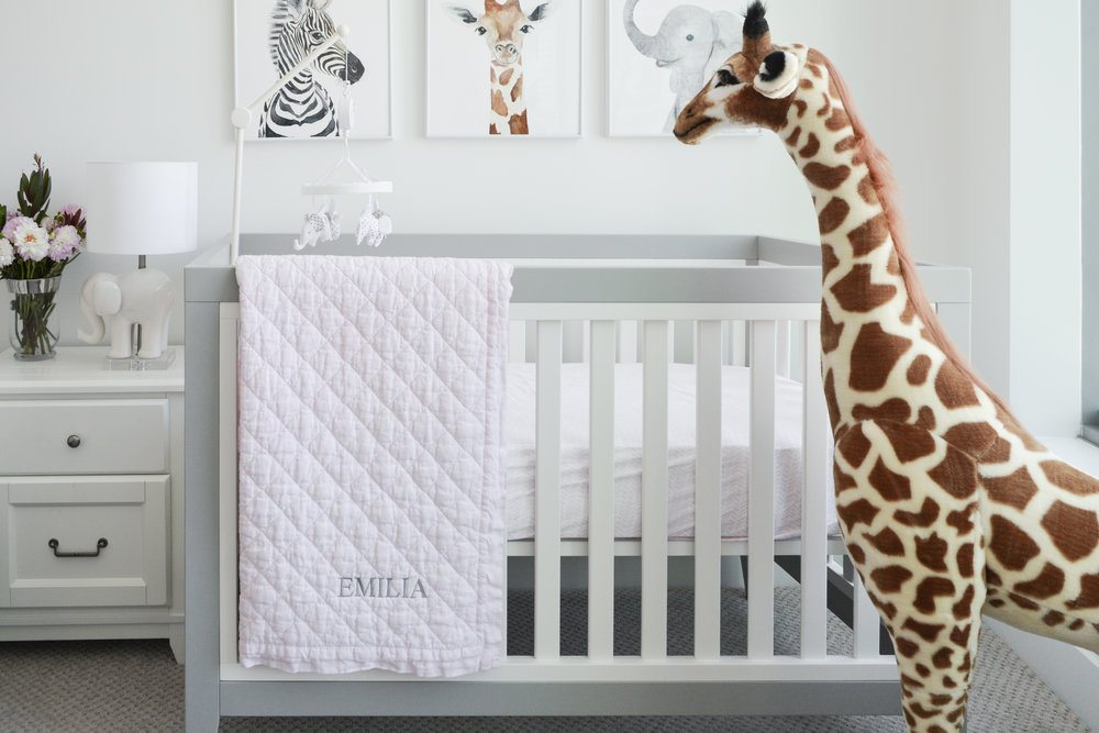 Angela Grace Design // Beale Baby Girl Nursery // San Francisco and SF Bay Area Interior Designer, Decorator