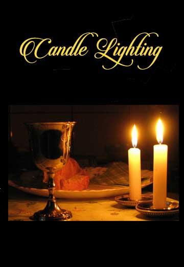 Candle Lighting   Aug. 3rd