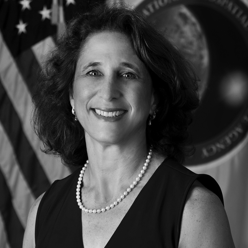 Susan Kalweit     Ms. Susan Kalweit is the Director of the Analysis Directorate at the National Geospatial-Intelligence Agency (NGA). As the Director of Analysis, she is responsible for leading NGA's geospatial intelligence analytic capabilities and resources as well as modernizing NGA's analytic efforts toward the future, consistent with the NGA Strategy.  Before joining NGA, Ms. Kalweit was a senior business manager at Booz Allen Hamilton, serving clients in the defense, intelligence, homeland security, and commercial sectors. At Booz Allen, Ms. Kalweit led the Global4Sight™ business area, providing open source and social media analytics services to multiple clients. She was responsible for staffing, client delivery, and continuous technology innovation for the Global4Sight™ platform, tools, and technologies. During the 12 years Ms. Kalweit was with Booz Allen, she also performed as a geospatial capability leader and business manager for more than 100 staff, providing analytic services to the intelligence community.  Ms. Kalweit was also a member of the U.S. Geospatial Intelligence Foundation (USGIF) Academic Advisory Committee and the Penn State University Master of GIS Program Advisory Board. Among her achievements with the USGIF was the establishment of the USGIF accreditation program for geospatial intelligence certificate programs offered by post-secondary institutions. Ms. Kalweit also instructs a post-baccalaureate course at the University of Maryland at Baltimore County entitled, Professional Seminar in Geospatial Intelligence.  Prior to her employment at Booz Allen, Ms. Kalweit enjoyed a 17-year career with the National Geospatial-Intelligence Agency and its predecessor organizations where she was recognized for her outstanding achievements with the NIMA Outstanding Woman of the Year Award, the Meritorious Unit Citation, and the Distinguished Civilian Service Award. Her roles at NGA included Deputy Chief for the Homeland Security mission, Director of the Prototyping Facility, Program Manager for Research and Development, and early on, she worked as an imagery analyst. Ms. Kalweit entered the Executive Service in 2016.  Ms. Kalweit earned a A.B.B.A. in political science and German from Duke University, a M.S. in information management systems from Marymount University, and a M.S. from the Dwight D. Eisenhower School for National Security and Resource Strategy, National Defense University. In August 2017, Ms. Kalweit was awarded a certificate of completion for the Senior Managers in Government Program at Harvard University, John F. Kennedy School of Government, Executive Education.