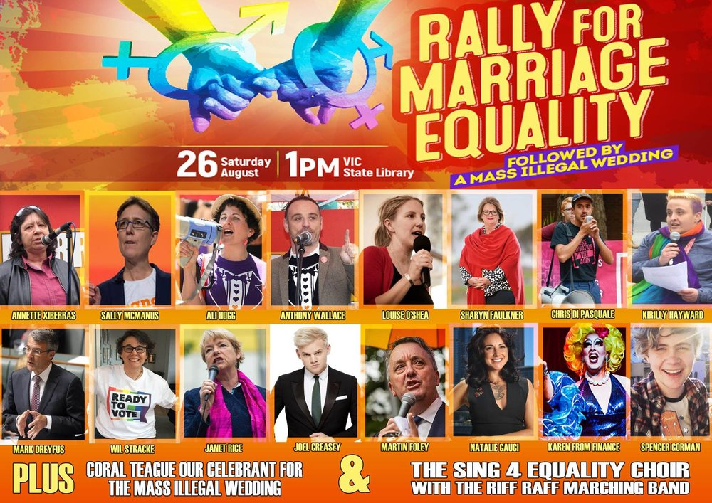 Natalie performing LIVE at the Rally for Marriage Equality, Melbourne - Aug 26th, 2017 -