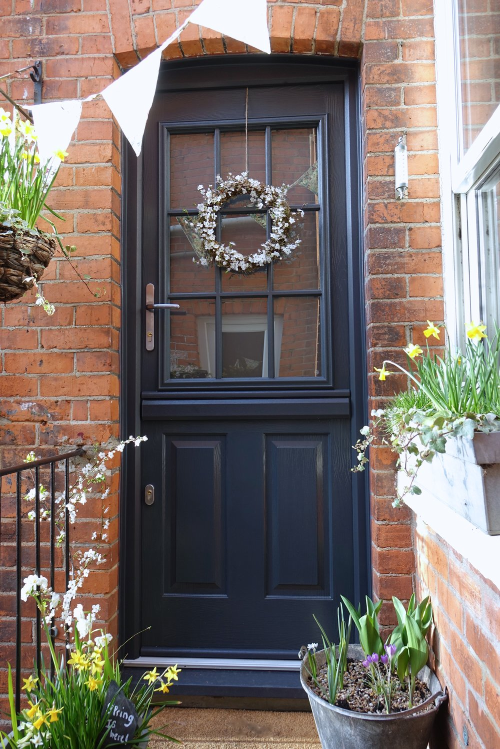 upvc stable door anthracite grey