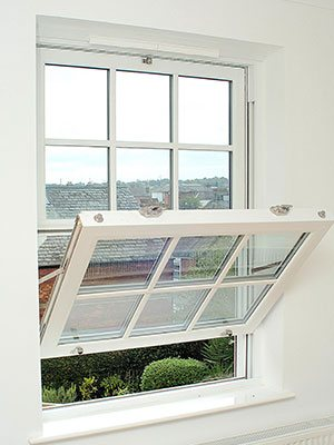 ventilation - The Eurocell Charisma vertical sliding sash window system has been designed to offer superior ventilation. Both top and bottom sashes can be partially opened, encouraging fresh air to enter the building at the bottom of the window while warm, stale air escapes at the top. It means that air is able to circulate constantly, keeping rooms fresh and comfortable. The window also features an overhead vent, allowing fresh air to flow all year round without compromising security