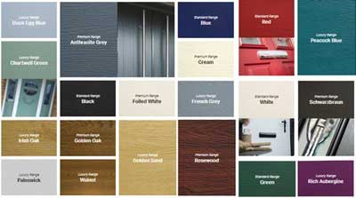 Colour Options - Available in 3 ranges of 20 high quality colour options.
