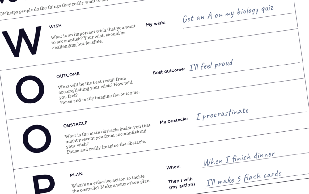 Use WOOP with your class - Download the full Playbook