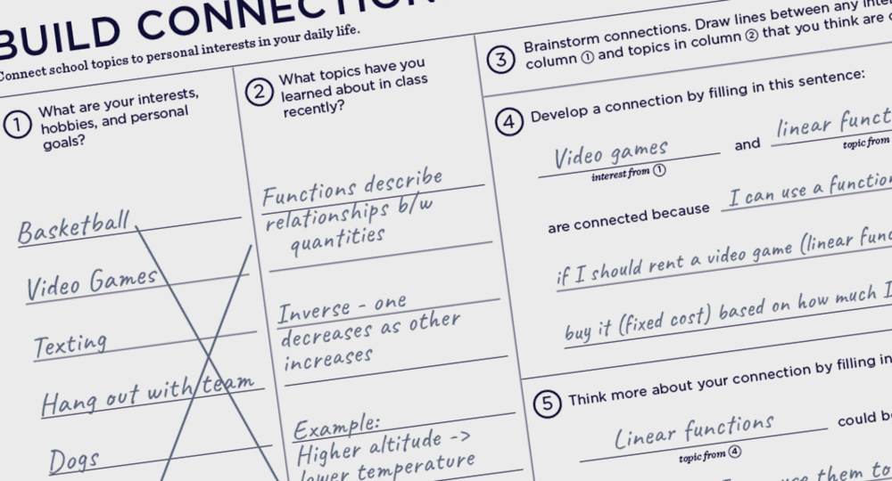 Use Build Connections with your class - Download the full Playbook