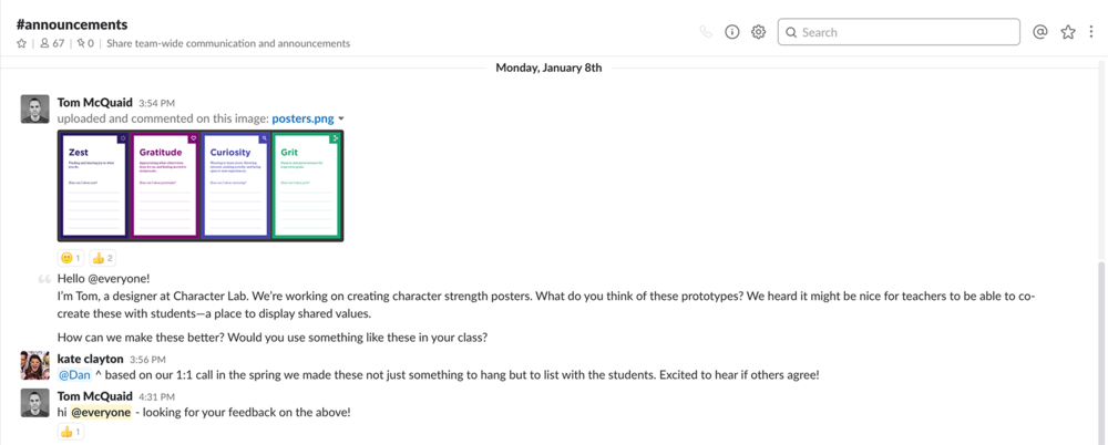 Character Lab Forum - Join our chat forum and connect with other educators about character