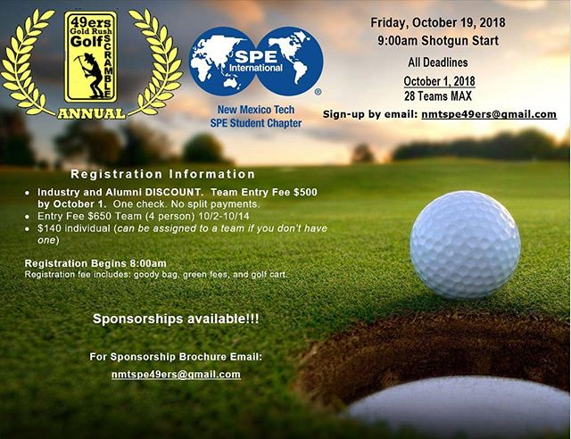 49ers Gold Rush Golf Scramble! October 19, 2018 9:00am Shotgun Start  Email us for more information! Nmtspe49ers@gmail.com