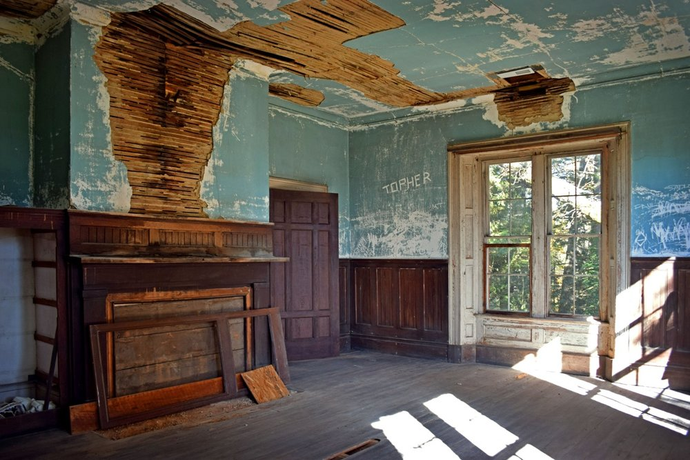 19th century house interior, Henderson County, NC