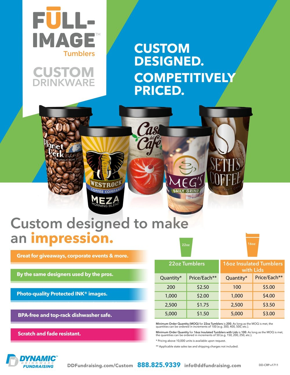 Custom Drinkware for Coffee Shopes