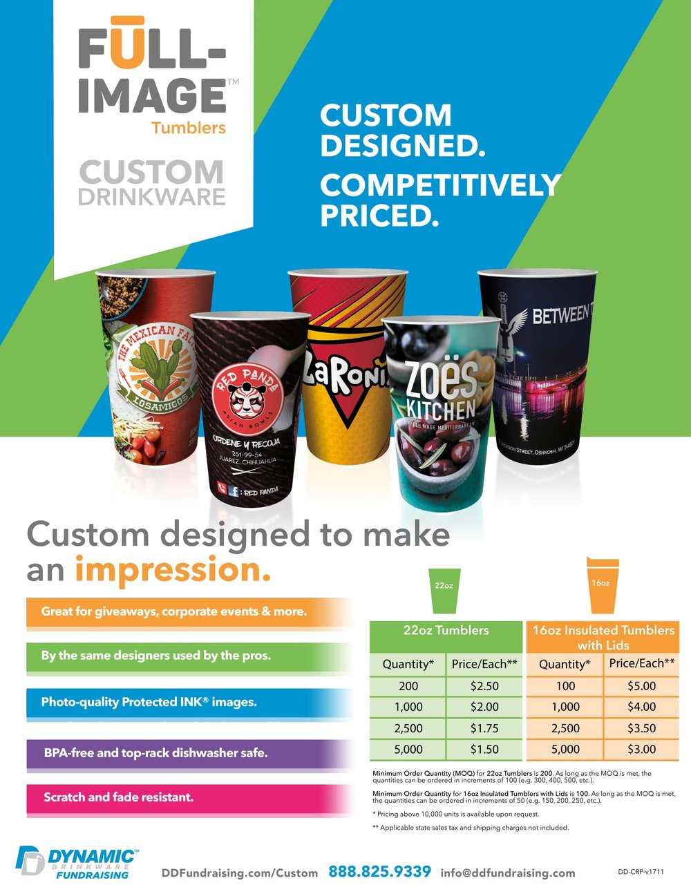 Custom Drinkware | Restaurants