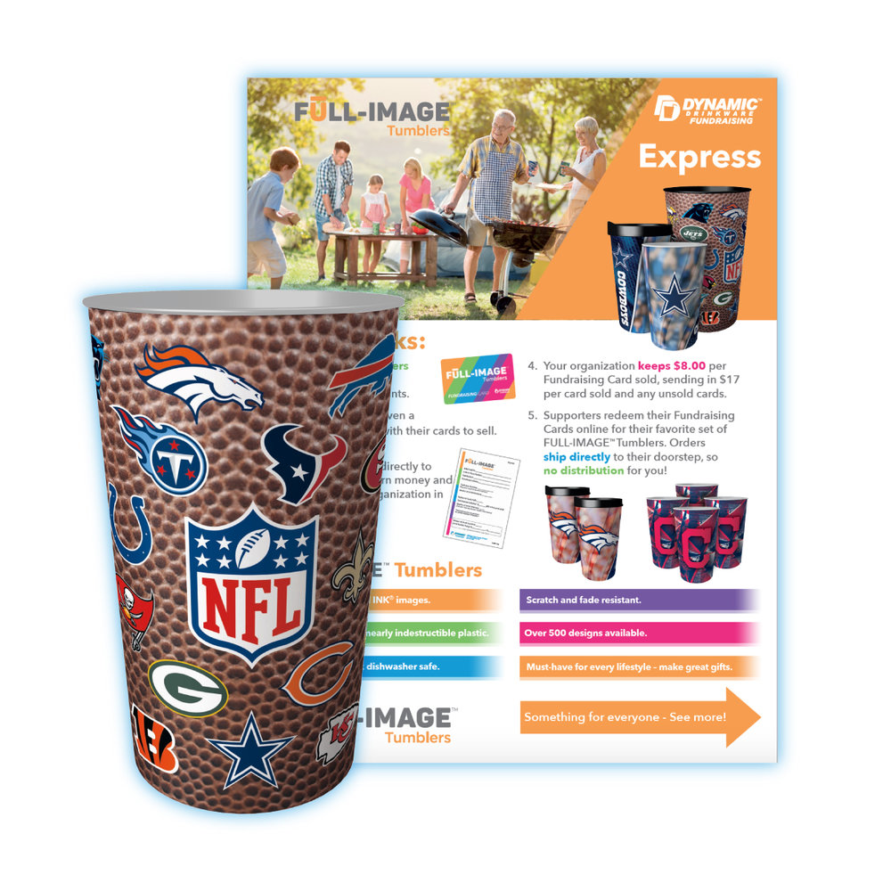 Sample NFL Cup and Flyer
