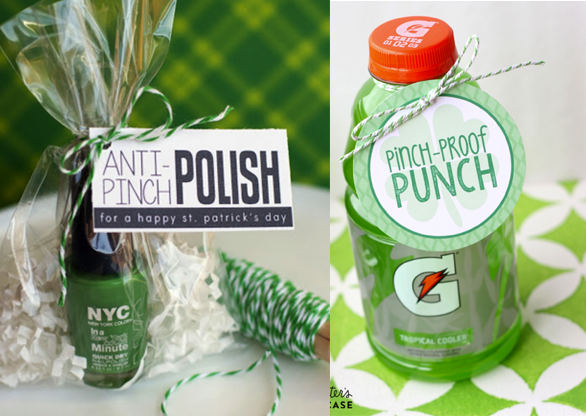 For sweet tweens - In case they don't want to wear green that day! Get polish printable or get punch printable>