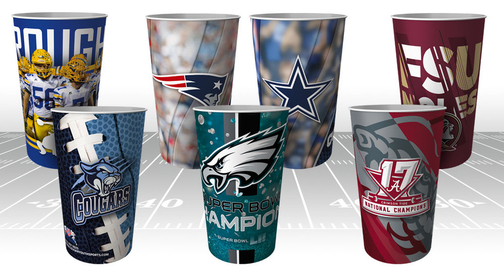 NFL Football Fundraising Tumblers