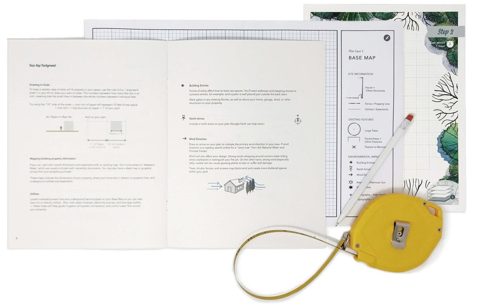 Step 2: Make A Base Map - Your DIY Kit will help you draw these measurements on a base map and jot down important information about your property's current conditions. You'll also map microclimates basics like sunny and shaded areas.About 60 minutes