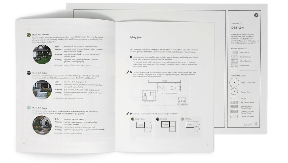 Step 5: Design Guide - Now it's time to tie it all together. In this step,connect the dots to create your full plan and refine it to match your style. You'll be able to use this to dialog with a contractor or hand over to your HOA.About 2.5 hours